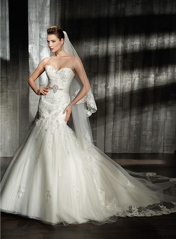 Cosmobella 7521 csipke menyasszonyi ruha sellő fazonú a7b17d5e67