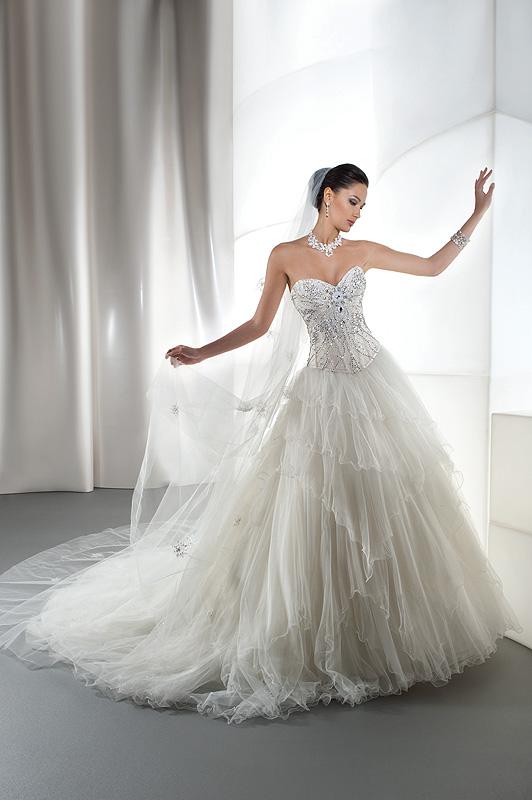 Demetrios 2863 tüll menyasszonyi ruha fűzős 34ee535b78