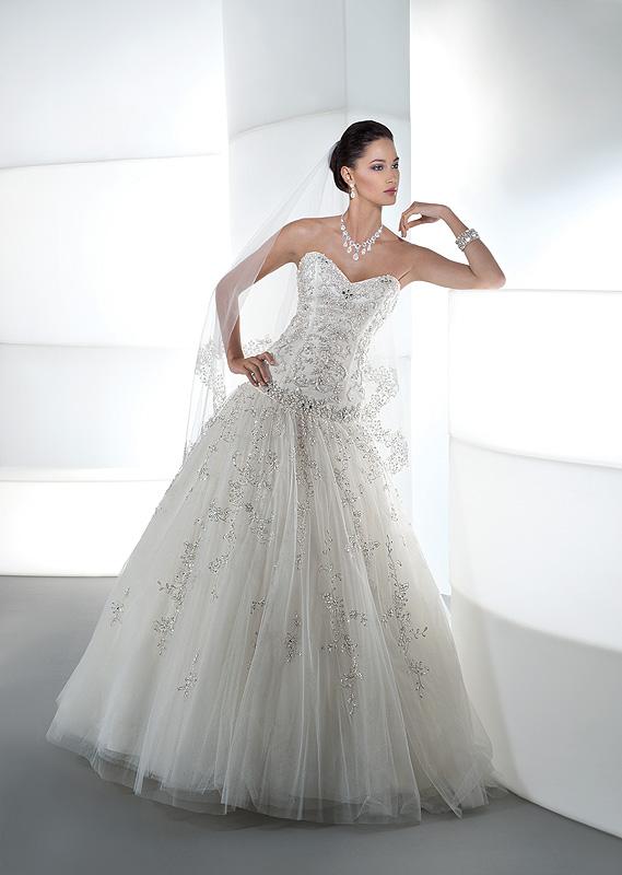 74f905c907 Demetrios 534 tüll menyasszonyi ruha A-vonalú, pánt nélküli - Royal ...